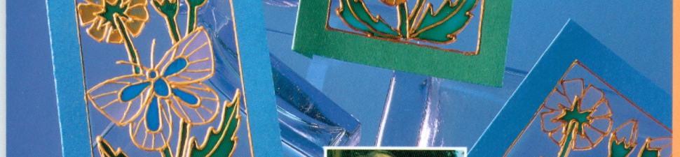 Nieuwe transparante wenskaarten met glasverf  achterkant - kopie